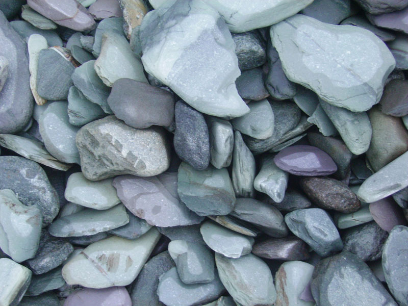 Green Slate Paddlestones 	20-70mm